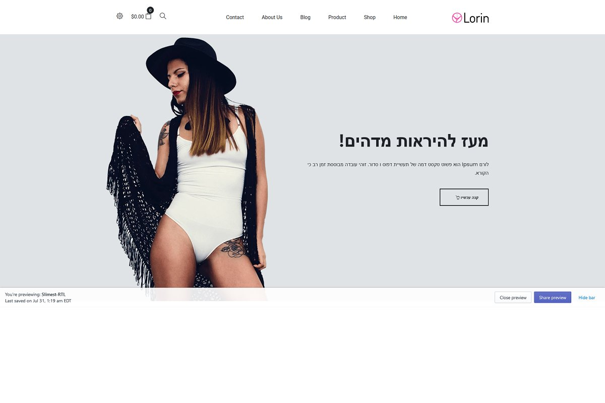 Lorin – Shapewear Shopify Theme