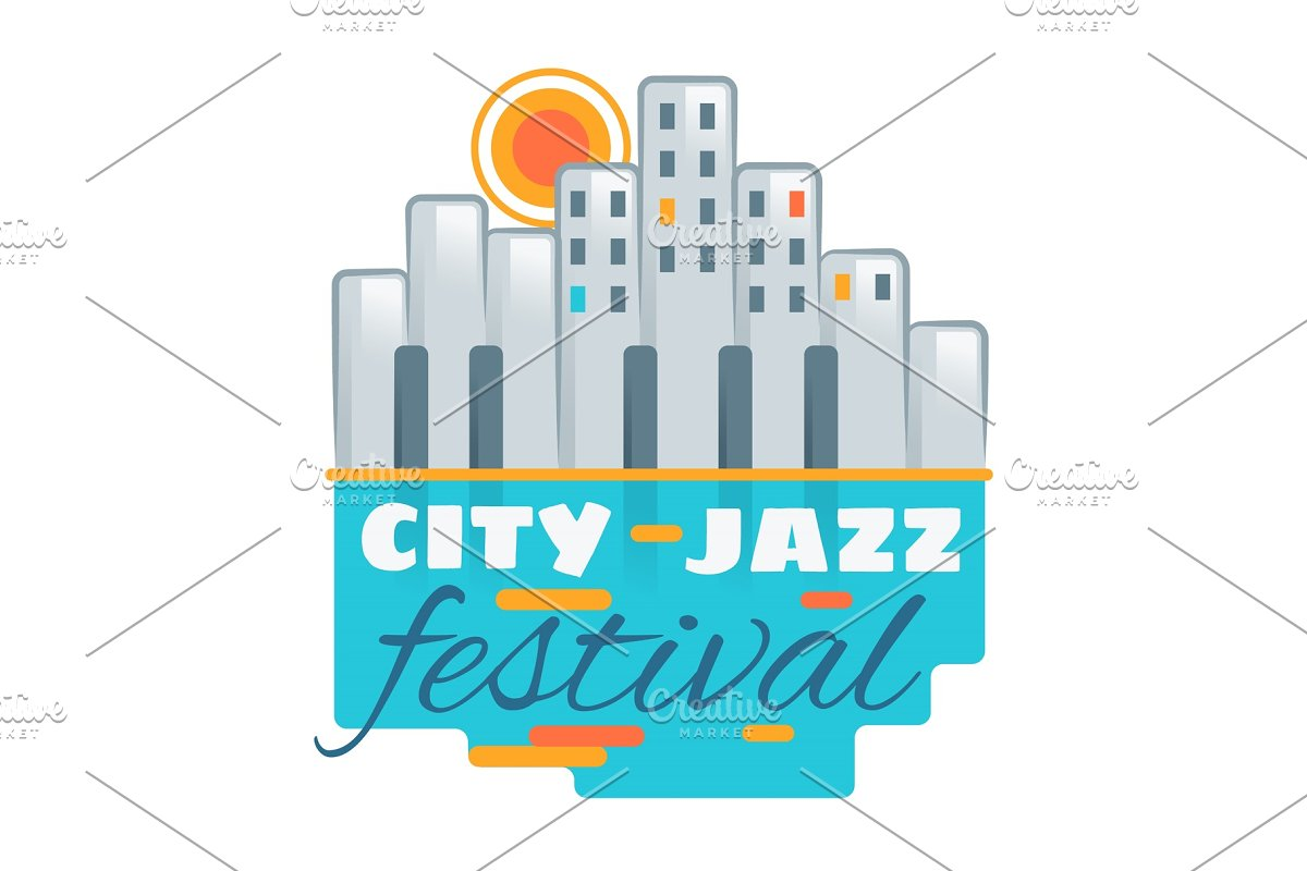 Jazz festival vector music concert