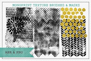 Monoprint Texture Brushes & Masks 1