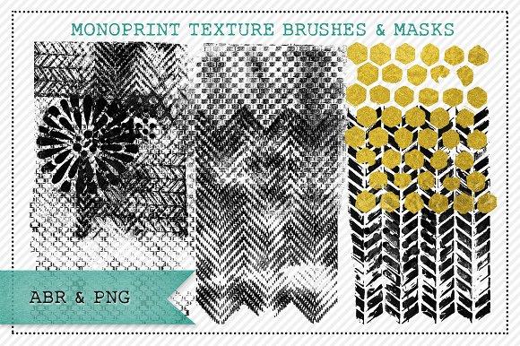 Monoprint Texture Brushes & Masks 1