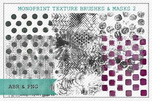 Monoprint Texture Brushes & Masks 2