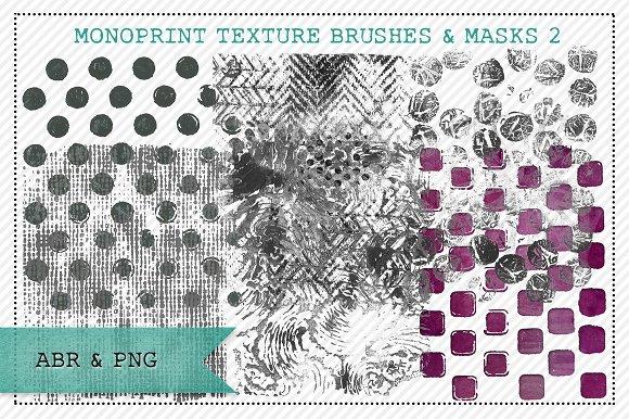 Monoprint Texture Brushes & Masks 2