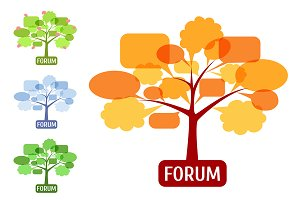 Set of icon for forum