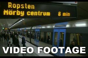 Arriving train underground station