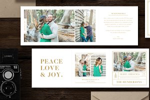 SALE! Holiday Card Trifold Templates