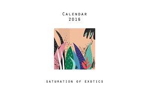 Calendar 2016. Saturation of exotics