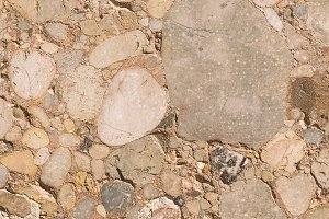 Soil texture of stones with several