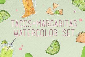 Watercolor Tacos & Margaritas