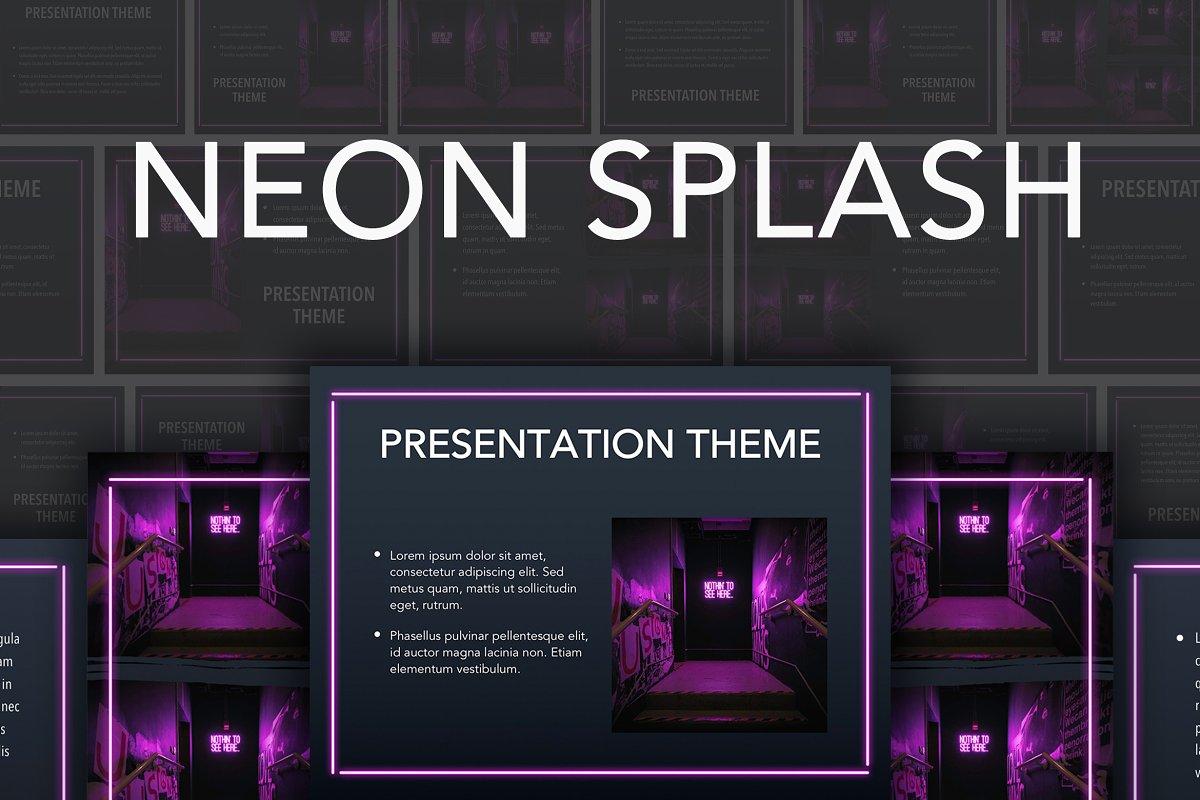 Neon Splash Google Slides Theme ~ Google Slides Templates