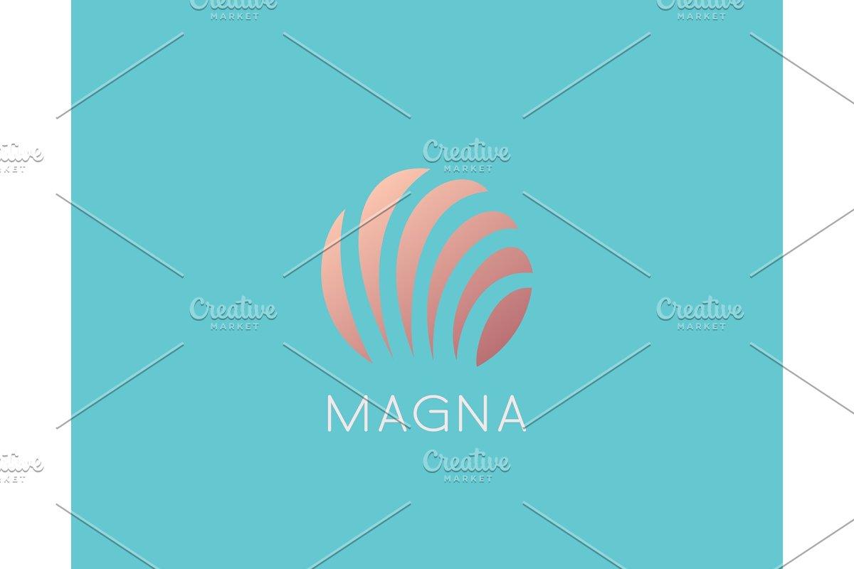 Shell sea logo design abstract