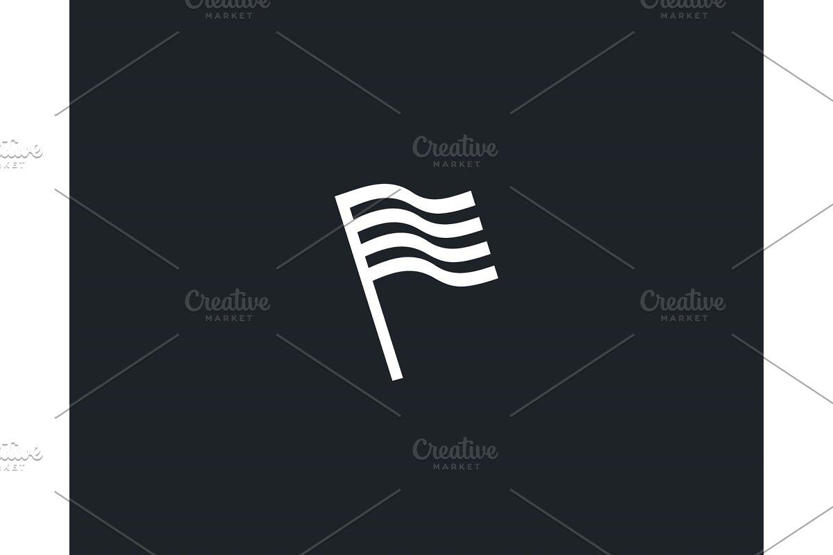 Flag stripes logo design abstract