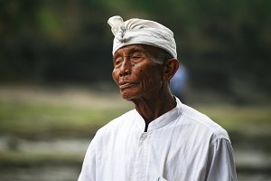Man from Bali Island, Indonesia