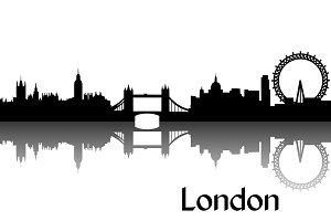 Vector silhouette of London