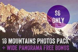 18 Retouched Mountains Photos