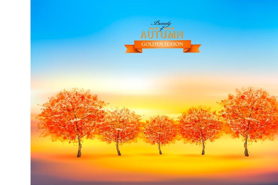 Gold autumn nature background