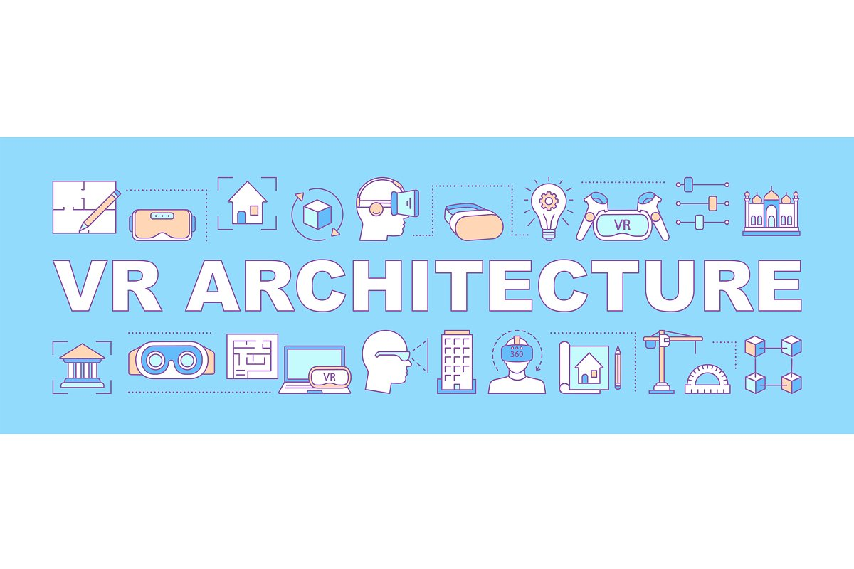 VR architecture word concepts banner