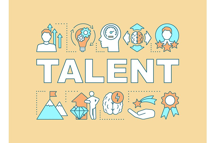 Talent word concepts banner