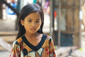 Girl from Mabul,Borneo