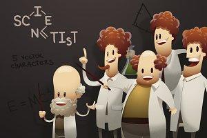 Scientists, vector