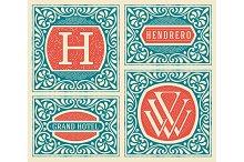 Retro cards templates.