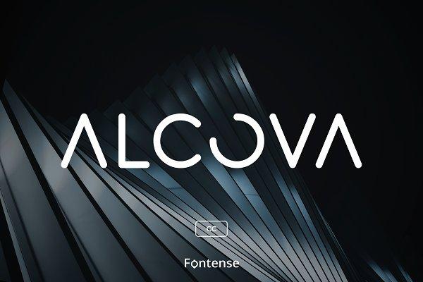Alcova CC - Modern Futuristic Font
