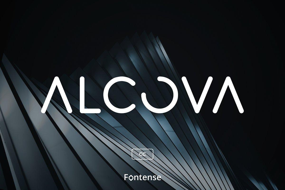 Alcova CC - Modern Futuristic Font ~ Display Fonts