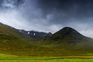 Glencoe mountains and landscape, in
