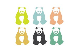 Panda Bears. Logo elements.