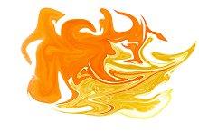 Orange mood. Abstraction.
