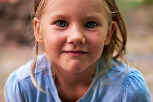 Little blond girl portrait