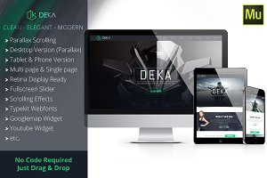 Deka - Creative Agency Muse Template