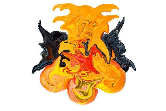 Demonic angel. Abstraction. - Illustrations