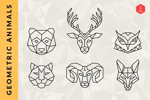 Geometric Animal Logos - Volume 1