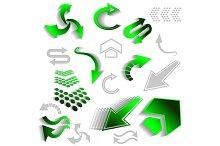 Green arrow icons