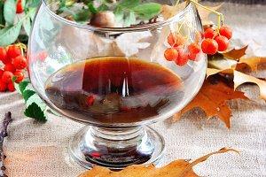 Glass of cognac, Thanksgiving