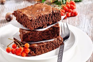 Chocolate brownies, autumn