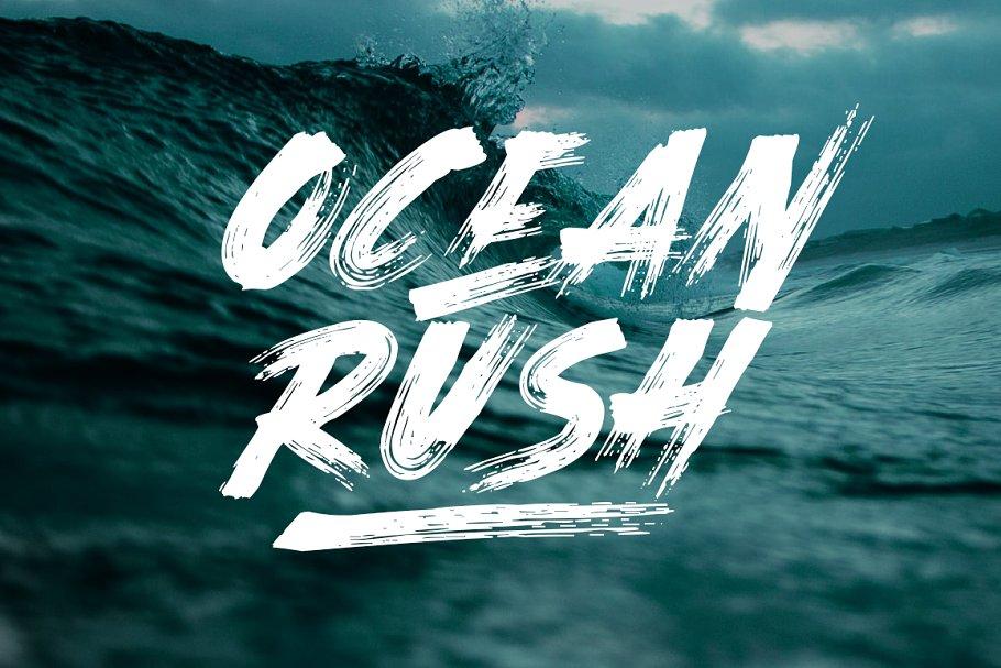 Ocean Rush - Font