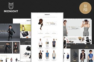 MidNight - Fashion eCommerce PSD