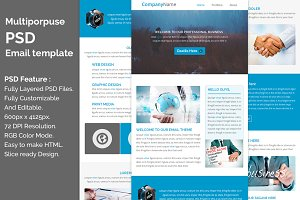 Multiporpuse psd email template e7.