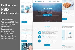 PSD Multiporpuse email template e8.