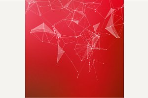 Red Abstract geometric background.