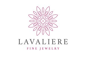 Lavaliere Jewelry Logo Template