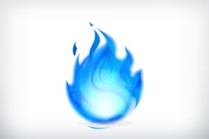 Blue fire icon