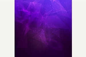 Abstract low poly purple background