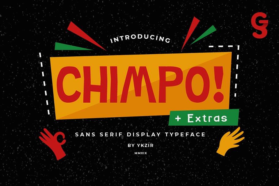 Chimpo Typeface + BONUS