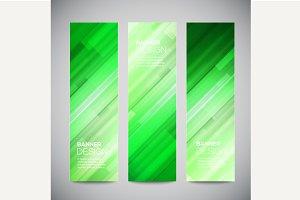 Low poly vector vertical banner