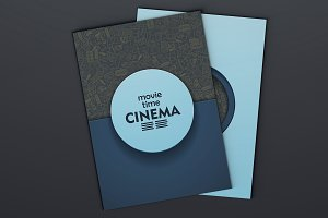 Cinema brochures. Doodle backgrounds