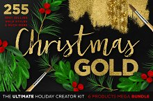 Gold Textures Christmas Mega Bundle