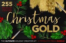 Gold Textures Christmas Mega Bundle