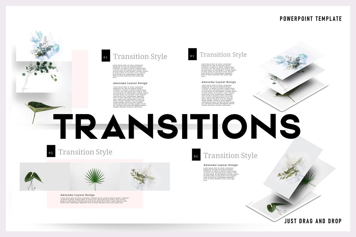 Transitions Powerpoint Template